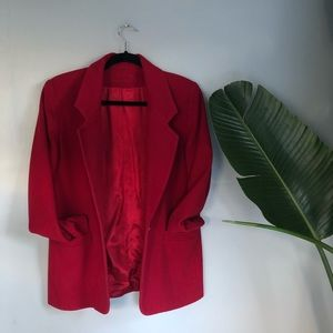 Jackets & Coats - Vintage Ruby Wool Blazer